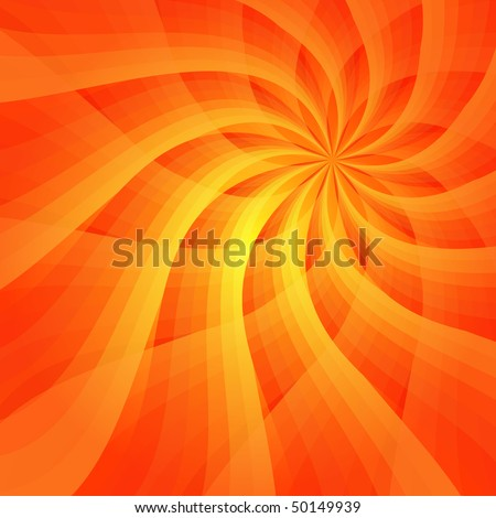 Abstract vivid orange background with sun-flower  (vector EPS 10)