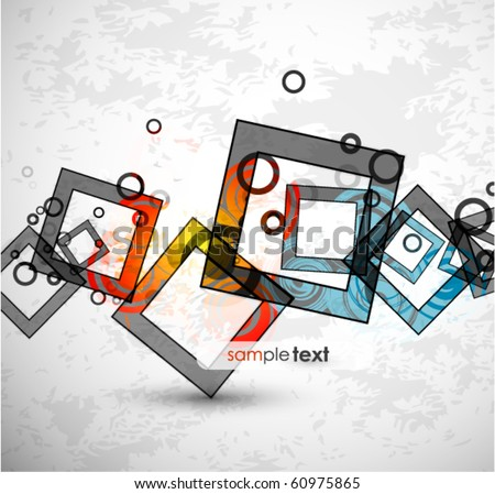 Abstract warm squares. Vector design - stock vector