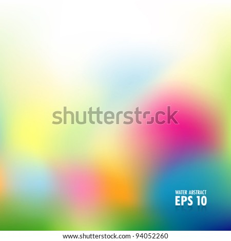 Abstract water color background vector illustration - stock vector