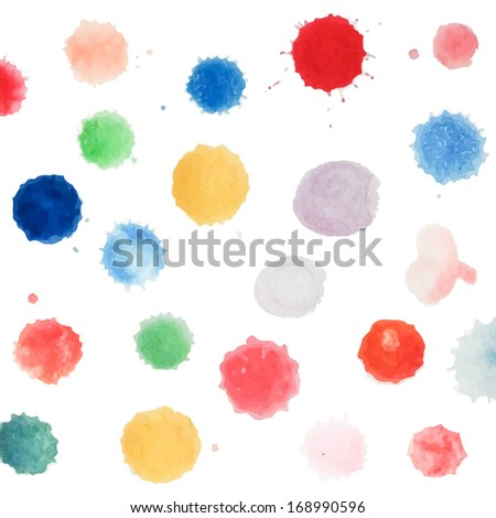 Abstract water color template handpaint on white background. Vector watercolor composition for scrapbook. Artistic illustration for your design.