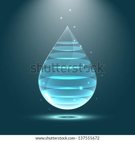 Abstract water drop background - stock vector