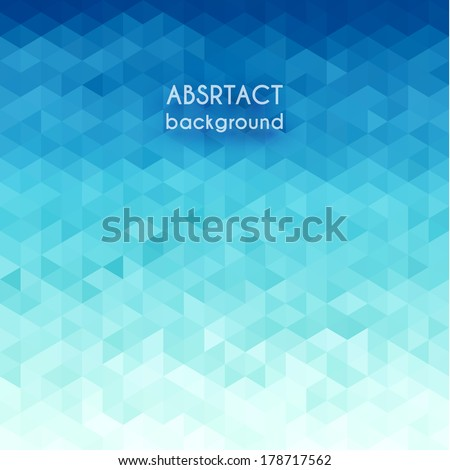 Abstract water  triangular pattern - eps10 - stock vector