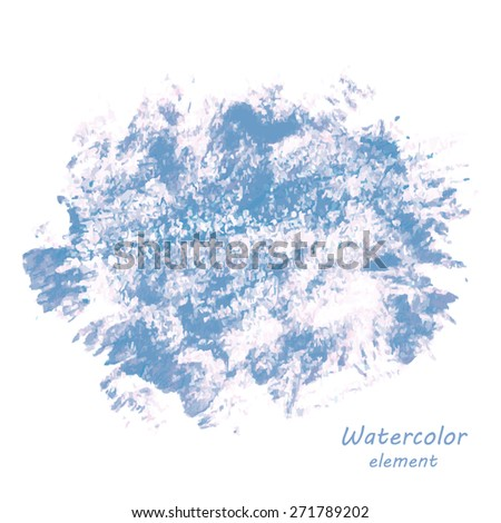 Abstract watercolor art hand paint isolated on white background. Watercolor stains. Square watercolour banner - stock vector