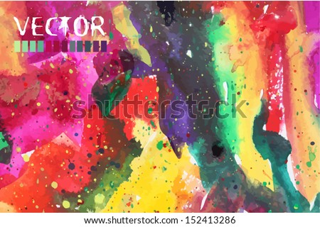 abstract watercolor background  - stock vector