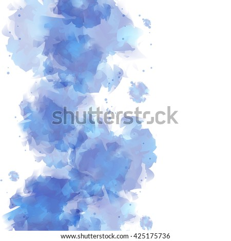 Abstract watercolor design element or background.Vector Illustration.
