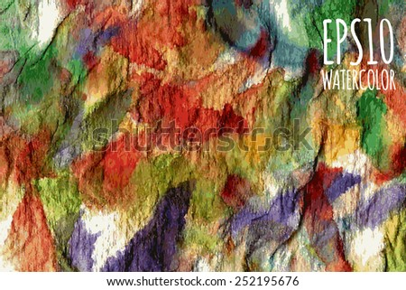 Abstract watercolor gradient colorful background in red, yellow, orange and green colors.