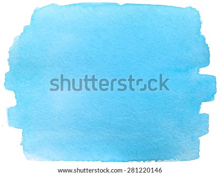 Abstract watercolor hand paint texture, isolated blue artistic background, bright colour, saturated, watercolor textured backdrop, watercolor drop, traced, vector eps 8