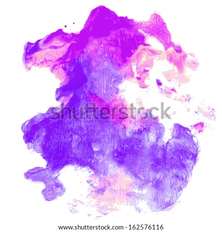 Abstract watercolor hand painted background - stock vector