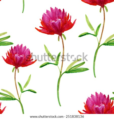 Abstract watercolor hand painted backgrounds. Vector flowers. - stock vector