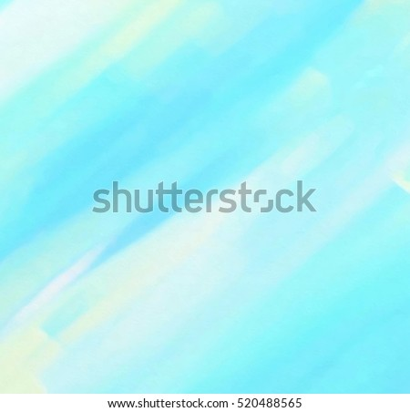Abstract Watercolor Wet Brush Paint Cold Line Element For Wallpaper Print Blue White Yellow