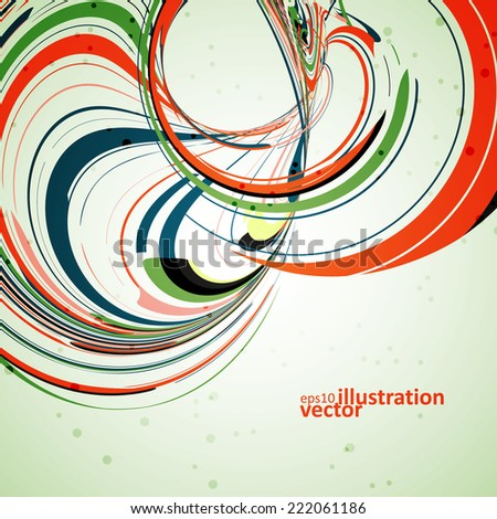 Abstract wave background, futuristic vector illustration eps10 - stock vector