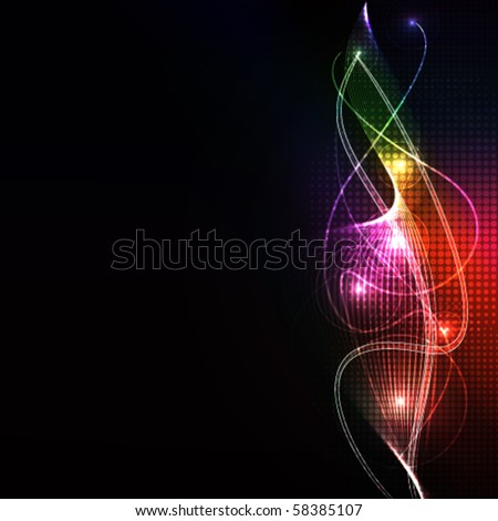 abstract wave,eps10 format - stock vector