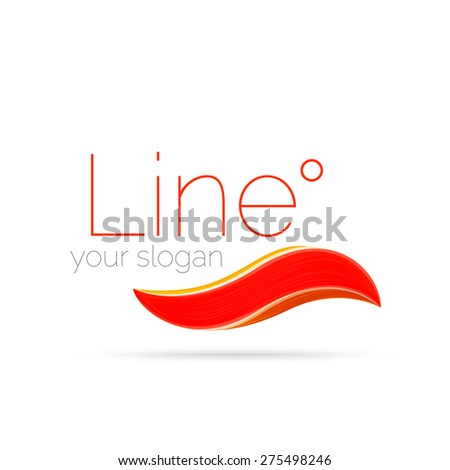 Abstract wave line logo. Vector illustration - stock vector