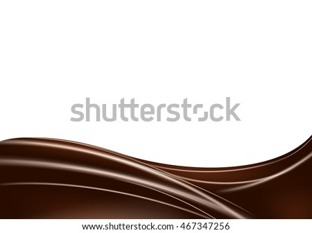 Abstract wave of chocolate background. Realistic vector illustration
