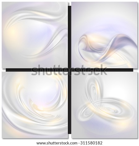 Abstract wave pearl tender background - stock vector