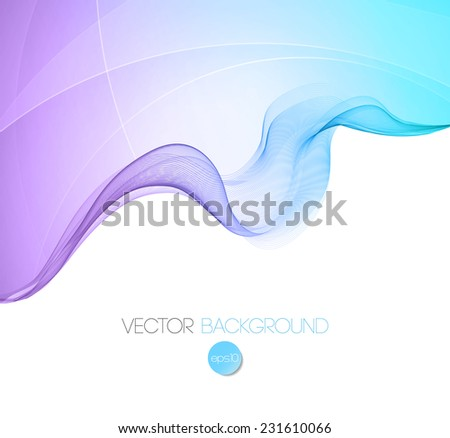 Abstract wave template background - stock vector