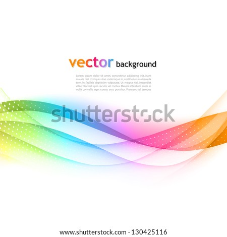 Abstract Wave Vector Background - stock vector