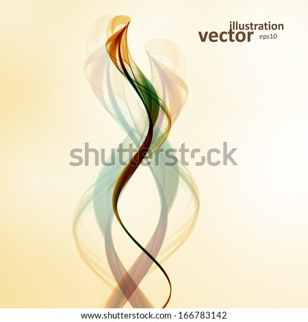 Abstract wave vector background, futuristic illustration eps10 - stock vector