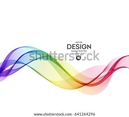 Abstract wave vector background, rainbow waved lines for brochure, website, flyer design. Spectrum wave. Rainbow color