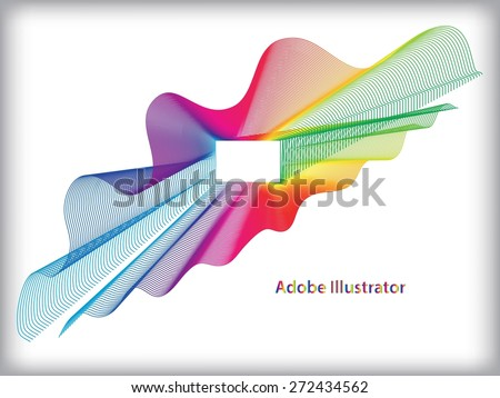 Abstract Wave Vector Background. Vector illustration - stock vector