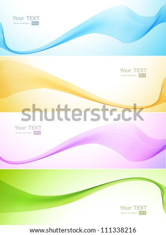Abstract waved banner - stock vector