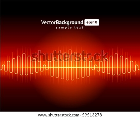 Abstract waveform vector background - stock vector