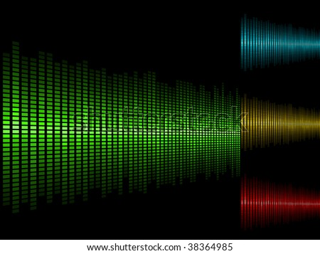 Abstract waveform vector background in four color schemes. - stock vector