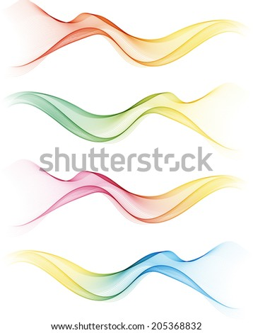 Abstract waves - stock vector