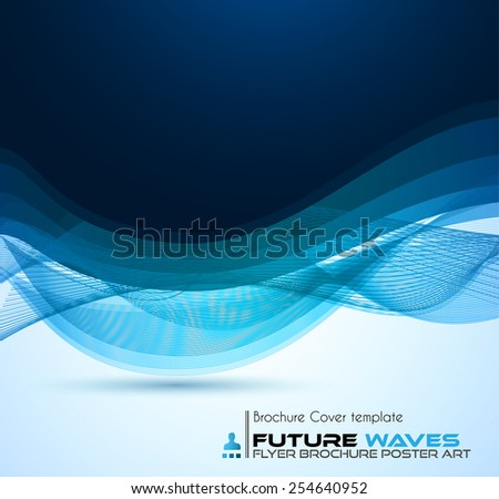Abstract waves background for brochures and flyers design. The template is ideal also for business cards, advertisement, posters and presentations. - stock vector
