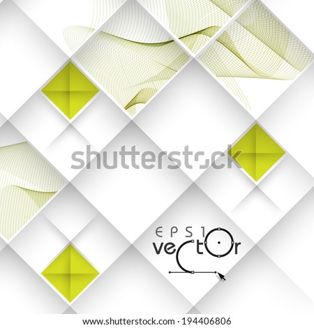 Abstract Waves Design. Vector Illustration. Eps 10. - stock vector