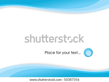 abstract waves place for text - stock vector