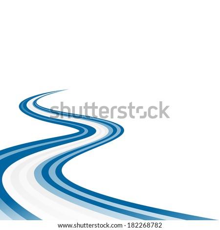 Abstract waving blue white blue ribbon flag - stock vector