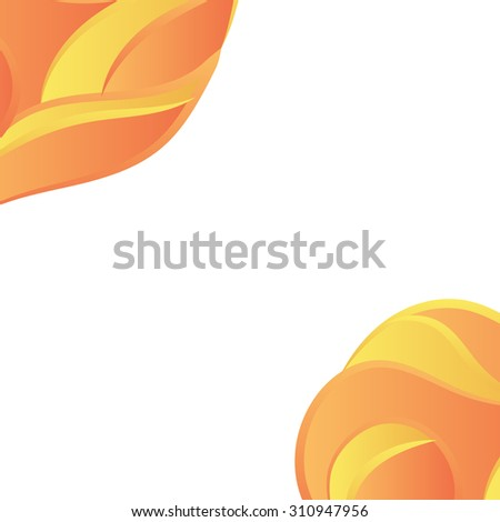 Abstract wavy banner template design. Vector background for flyer, blank, card, invitation, brochure cover design template.    - stock vector