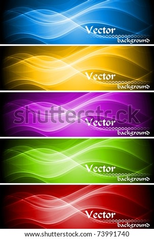 Abstract wavy banners collection. Vector illustration eps 10 - stock vector