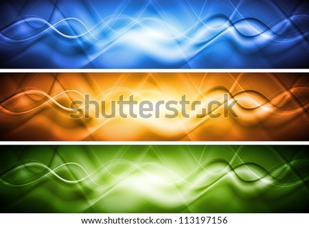 Abstract wavy banners. Vector illustration eps 10 - stock vector