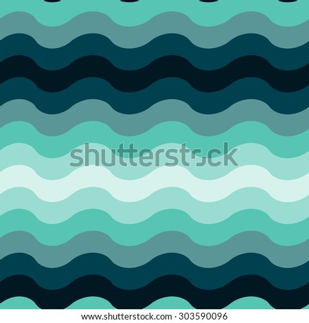 Abstract wavy ocean seamless pattern background. Vector. EPS