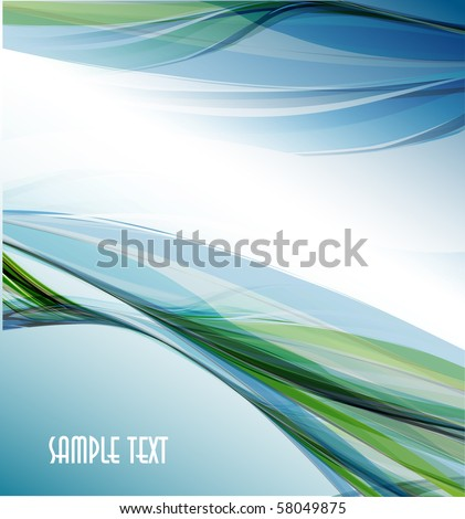 Abstract wavy vector design - stock vector