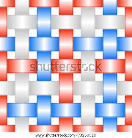 Abstract weaving background. Seamless pattern. Vector illustration. - stock vector