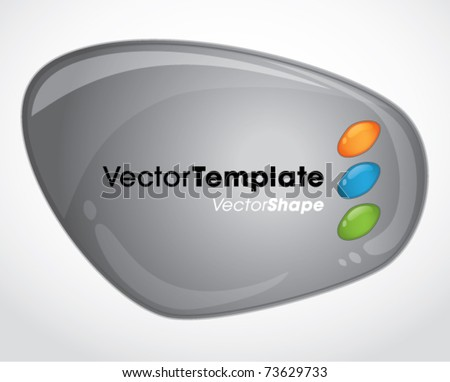 Abstract web application template buttons vector set - stock vector