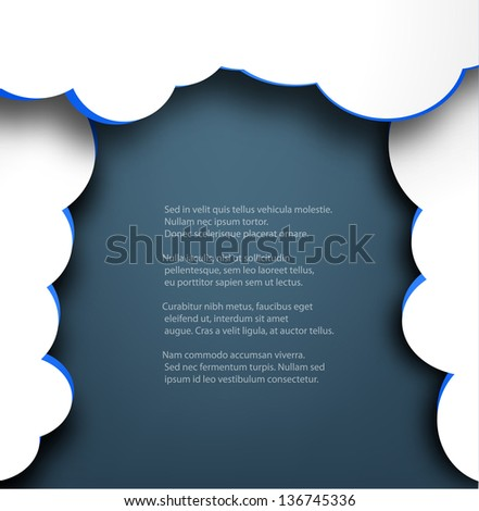 Abstract web design background with clouds.