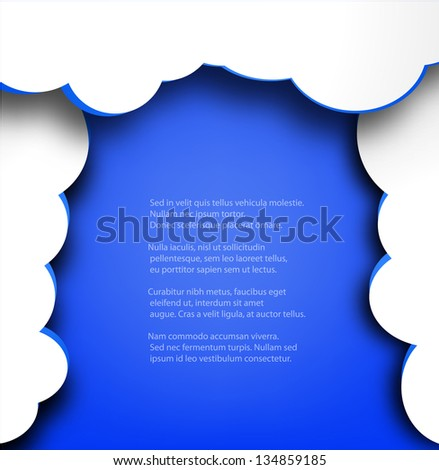 Abstract web design background with clouds curtain.EPS10 vector illustration.