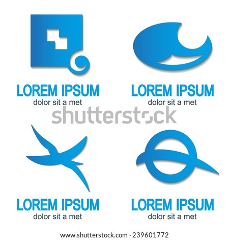 Abstract web Icon and globe vector identity symbol. Unusual icon and sticker set. Graphic design easy editable for Your design. - stock vector