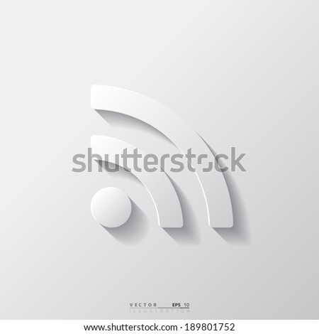 Abstract web rss icon. - stock vector