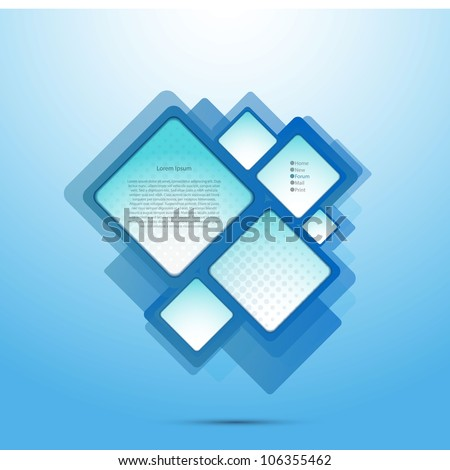 Abstract web site squares design
