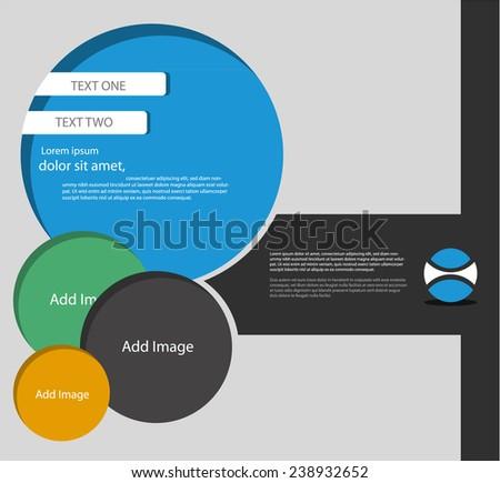 Abstract website template design, Vector eps10. - stock vector