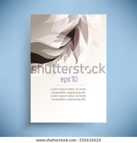 abstract wedding feminine concept transparent leaves overlapping elegant background - stock vector