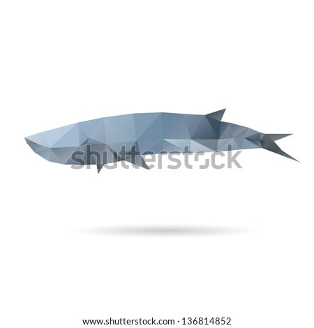 Abstract whale isolated on a white backgrounds - stock vector