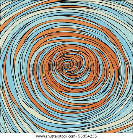 abstract whirlpool background - stock vector