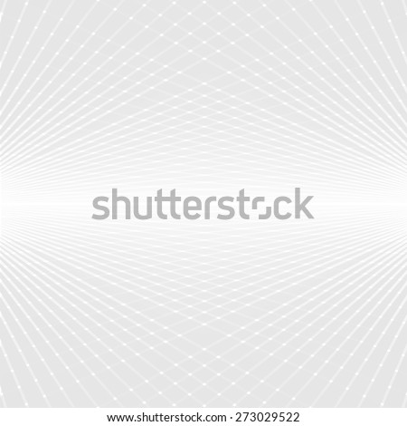 Abstract white and grey perspective futuristic background - stock vector