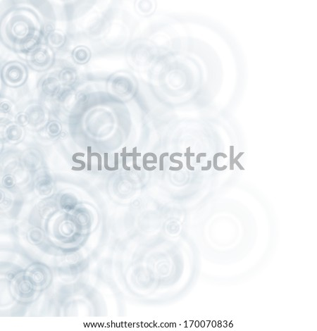 Abstract white and grey tones background with circle design concept - stock vector